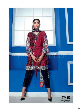 Gul Ahmed Embroidered Linen Unstitched 2 Piece Suit GL17W TM1B