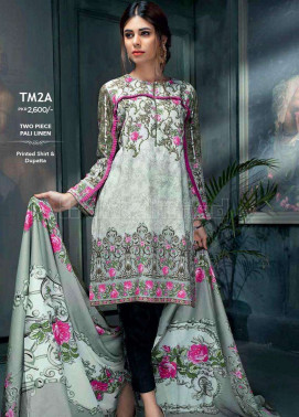 Gul Ahmed Embroidered Linen Unstitched 2 Piece Suit GL17W TM2A