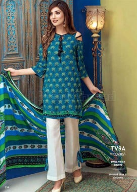 Gul Ahmed Embroidered Linen Unstitched 2 Piece Suit GL17W TV9A