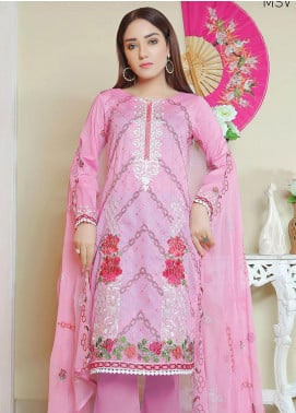 Glamza by Master Fabrics Embroidered Chikankari Lawn Unstitched 3 Piece Suit MF20G 20110 - Spring / Summer Collection