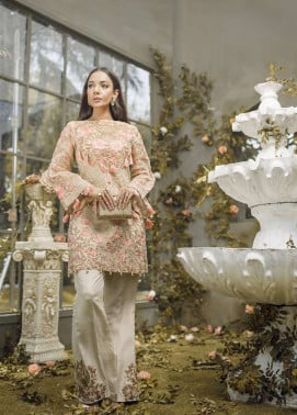 Anahi by Gulaal Embroidered Katan Net Stitched 2 Piece Suit GLP17E 05