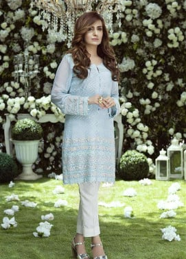 Anahi by Gulaal Embroidered Chiffon Stitched Kurtis GLP17K 4B