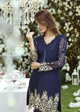 Anahi by Gulaal Embroidered Chiffon Stitched Kurtis GLP17K 5A