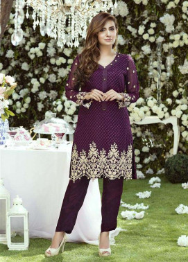 Anahi by Gulaal Embroidered Chiffon Stitched Kurtis GLP17K 5B