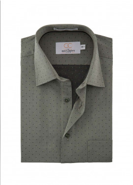 The Gentlemen's Club Cotton White Label Formal Shirts for Men - Grey GM18FS 4024