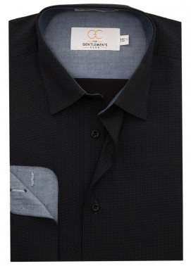 The Gentlemen's Club Cotton White Label Formal Shirts for Men - Black GM18FS 4057
