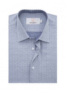 The Gentlemen's Club Cotton White Label Formal Shirts for Men - Blue GM18FS 4060