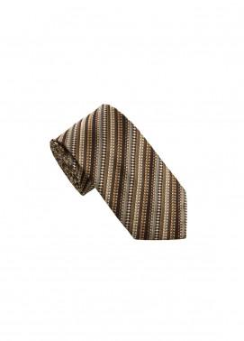 The Gentlemen's Club Brown Striped Silk Men's Ties