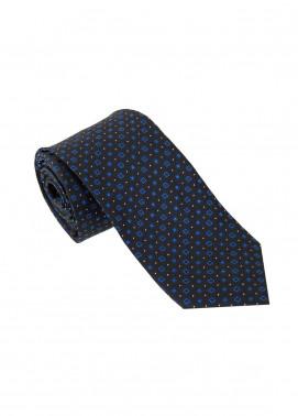 The Gentlemen's Club Blue Polka Dotted Silk Men's Ties