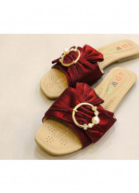 Grace Up Shoes Casual Style  Flat Shoes 0798 MAROON