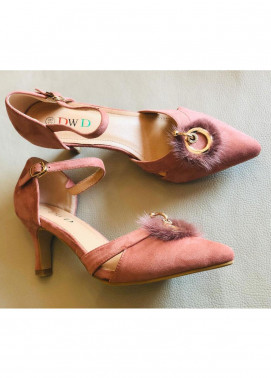 Grace Up Shoes Casual Style  Heel Shoes 595 PINK