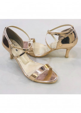 Grace Up Shoes Casual Style  Heel Shoes 967 PEACH