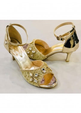 Grace Up Shoes Casual Style  Heel Shoes 968 GOLDEN