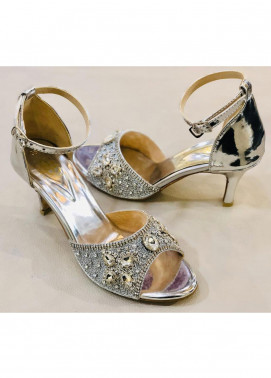 Grace Up Shoes Casual Style  Heel Shoes 968 SILVER