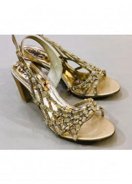 Grace Up Shoes Casual Style  Heel Shoes 969 GOLDEN