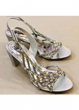 Grace Up Shoes Casual Style  Heel Shoes 969 SILVER
