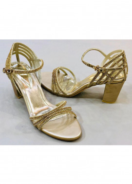Grace Up Shoes Casual Style  Heel Shoes 970 GOLDEN