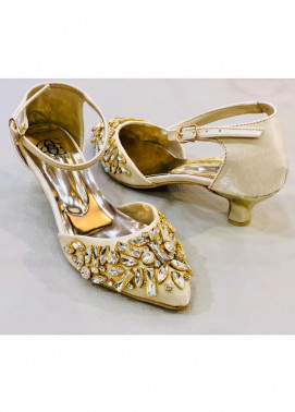 Grace Up Shoes Casual Style  Heel Shoes 972 GOLDEN