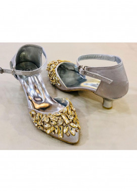 Grace Up Shoes Casual Style  Heel Shoes 972 SILVER