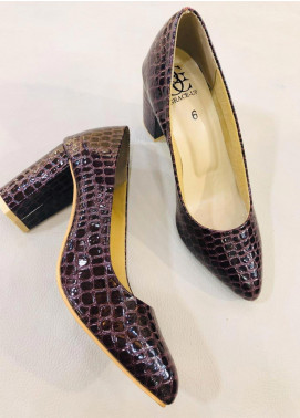 Grace Up Shoes Casual Style  Heel Shoes 0459 MAROON