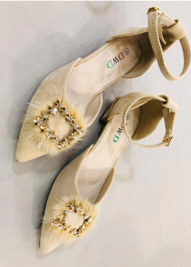 Grace Up Shoes Casual Style  Heel Shoes 593 FAWN