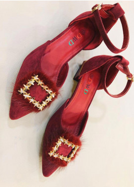 Grace Up Shoes Casual Style  Heel Shoes 593 MAROON