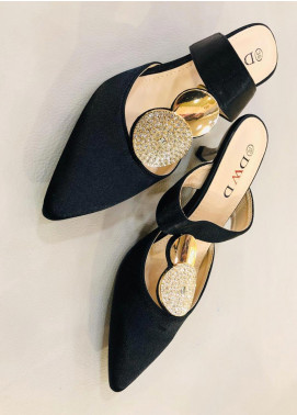 Grace Up Shoes Casual Style Heel Shoes 594 BLACK