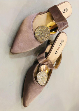 Grace Up Shoes Casual Style Heel Shoes 594 BROWN