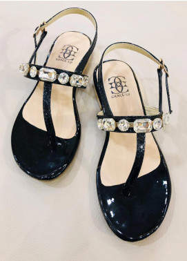 Grace Up Shoes Casual Style  Flat Shoes 664 Black