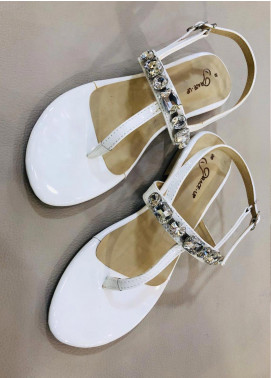Grace Up Shoes Casual Style  Flat Shoes 664 White