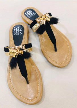 Grace Up Shoes Casual Style  Flat Shoes 669 Black