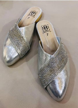 Grace Up Shoes Casual Style  Flat Shoes 675 Silver