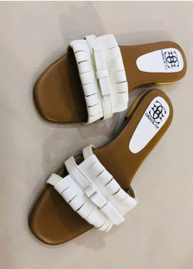 Grace Up Shoes Casual Style  Flat Shoes 679 White