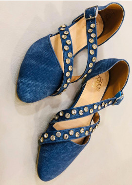 Grace Up Shoes Casual Style  Flat Shoes 680 Blue