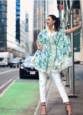 Gul Ahmed Printed Lawn Unstitched Kurties GBC19MFL SL 516A - Spring Summer Collection