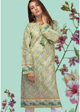Gul Ahmed Printed Lawn Unstitched Kurties GAB19L SL-668 - Spring / Summer Collection