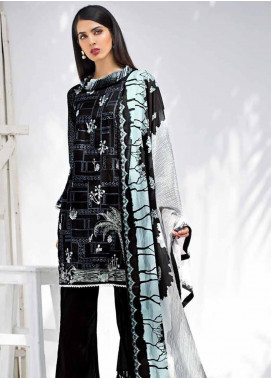 Gul Ahmed Embroidered Cotton Unstitched 3 Piece Suit GA19BW B-48 - Black & White Collection