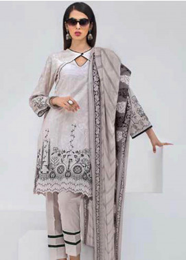 Gul Ahmed Embroidered Cotton Unstitched 3 Piece Suit GA19BW B-49 - Black & White Collection