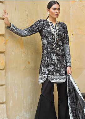 Gul Ahmed Printed Cotton Unstitched 3 Piece Suit GA19BW B-53 - Black & White Collection