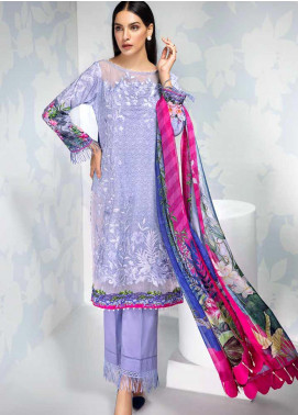 Gul Ahmed Embroidered Cambric Unstitched 3 Piece Suit GA19CF BM-135 - Mid Summer Collection