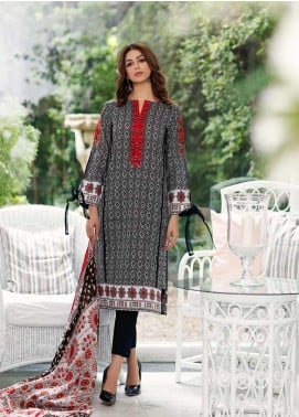 Gul Ahmed Embroidered Cambric Unstitched 3 Piece Suit GA19CF CBE-83 - Mid Summer Collection