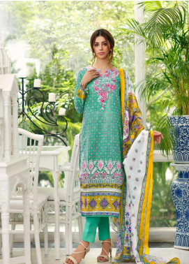 Gul Ahmed Embroidered Cambric Unstitched 3 Piece Suit GA19CF CBE-84 - Mid Summer Collection