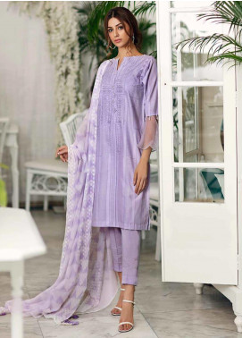 Gul Ahmed Embroidered Jacquard Unstitched 3 Piece Suit GA19CF CBE-87 - Mid Summer Collection