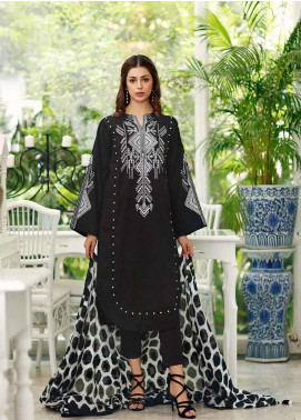 Gul Ahmed Embroidered Jacquard Unstitched 3 Piece Suit GA19CF CBE-88 - Mid Summer Collection