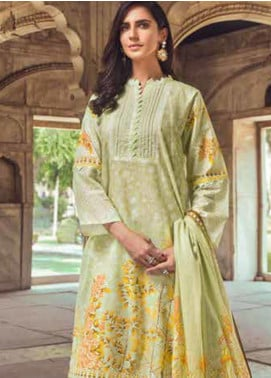 Gul Ahmed Printed Cambric Unstitched 3 Piece Suit GA19CF CBN-100 B - Mid Summer Collection