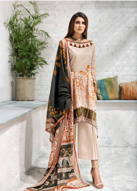 Gul Ahmed Printed Cambric Unstitched 3 Piece Suit GA19CF CBN-90 B - Mid Summer Collection