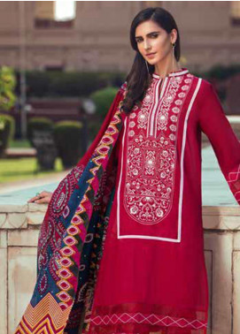 Gul Ahmed Printed Cambric Unstitched 3 Piece Suit GA19CF CBN-91 B - Mid Summer Collection