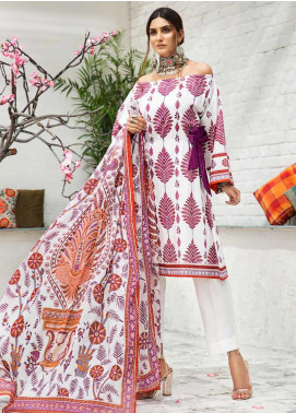 Gul Ahmed Printed Cambric Unstitched 3 Piece Suit GA19CF CBN-95 A - Mid Summer Collection