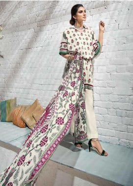 Gul Ahmed Printed Cambric Unstitched 3 Piece Suit GA19CF CBN-95 B - Mid Summer Collection