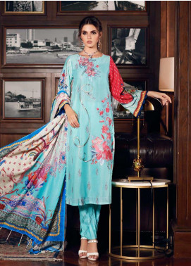 Gul Ahmed Embroidered Jacquard Unstitched 3 Piece Suit GA19CF CN-02 - Mid Summer Collection